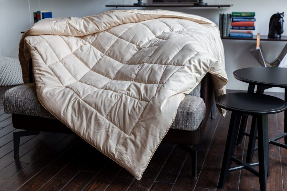 Шерстяное одеяло ALMOND CAMEL GRASS